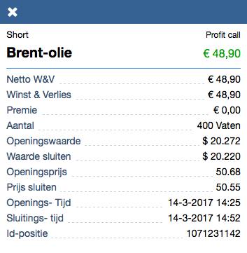 Brent-olie resultaat